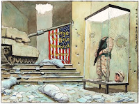Steve Bell cartoon: The George W Bush memorial library.