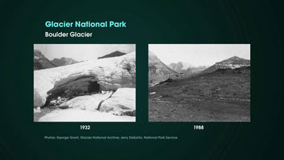 Glacier National Park 1932 and 1985.