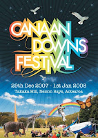 Canaan Downs Festival poster.
