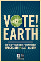 Earth Hour poster by Shepard Fairey.