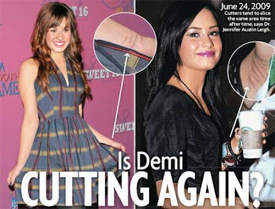 Demi Lovato again Cutting Her Wrist