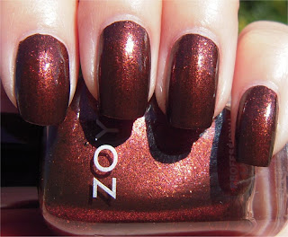 brown sparkle nail art