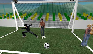 second life - playing footaball