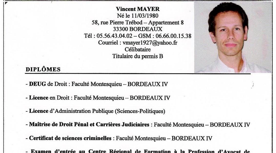example resume  exemple curriculum vitae avocat