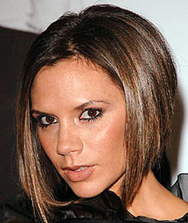 Victoria Beckham is a celebrity who became a trendsetter this hairstyle.
