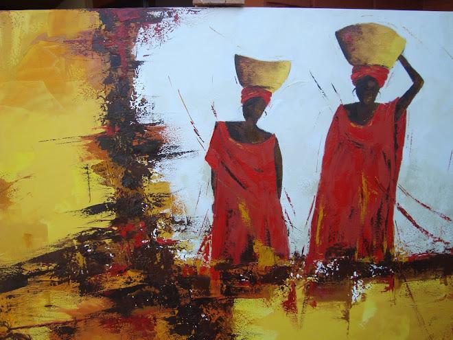 Africanas en oleo