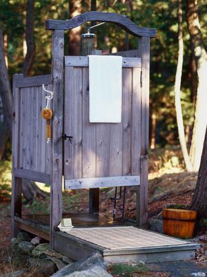 Fauna decorativa ba os m s que r sticos bathrooms more - Biombos para exteriores ...