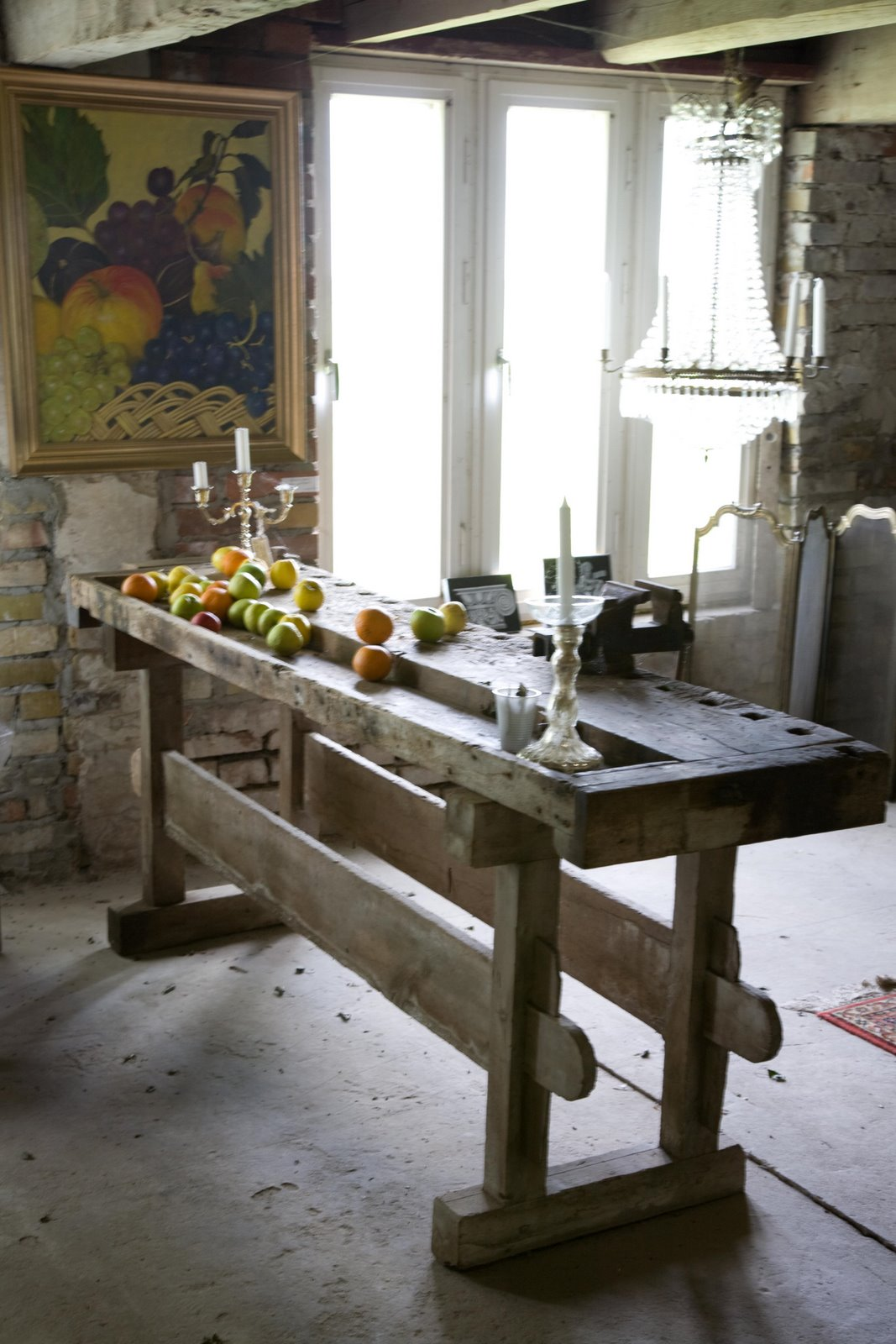 Fauna decorativa isla de cocina como mesa kitchen for Barra cocina madera