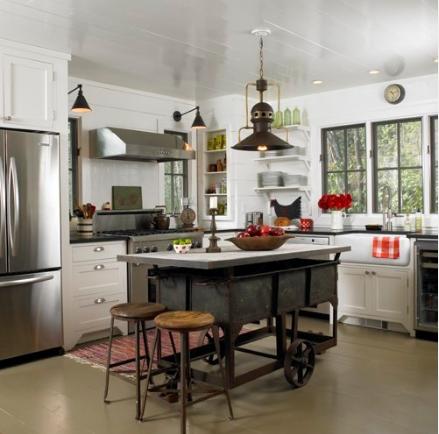Fauna decorativa isla de cocina como mesa kitchen for Isla cocina industrial