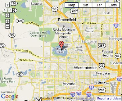 Standley Lake, Google Map