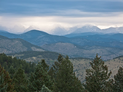 Indian Peaks Under Clouds