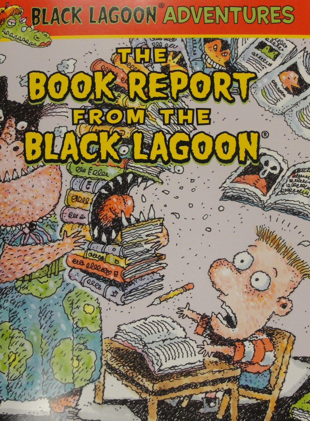 the book report from the black lagoon level A fun-filled chapter book pack that mixes school, monsters, and common kid problems with hilarious results this pack includes: black lagoon adventures chapter book #1: the class trip from the black lagoon.