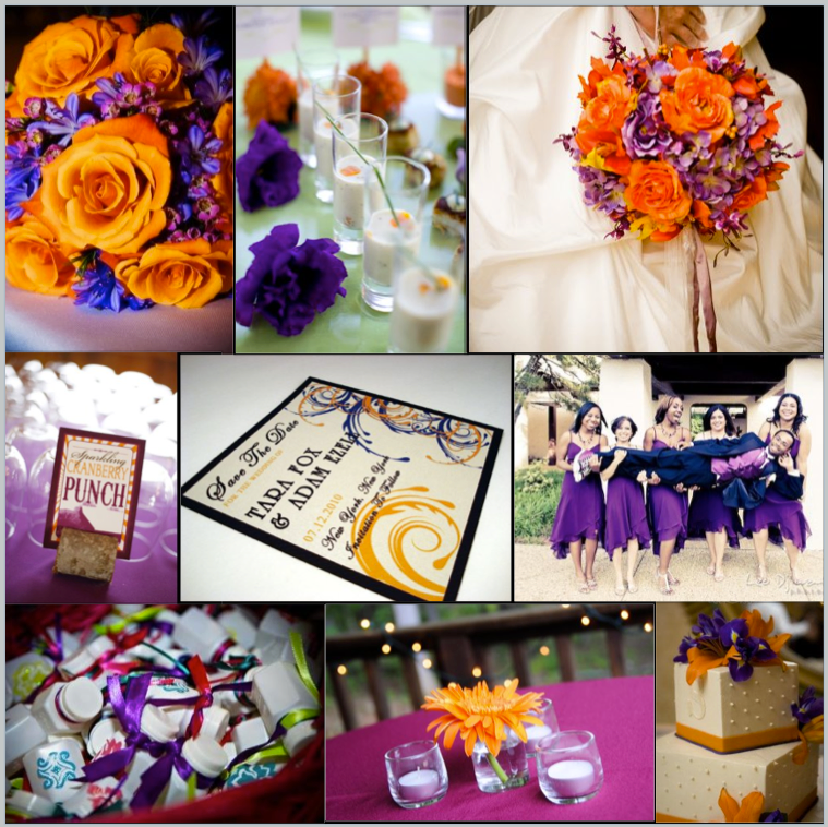 NicolaRobyn Events Wedding Colors Orange And Purple