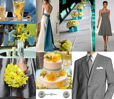 Wedding Colors Blue and Yellow