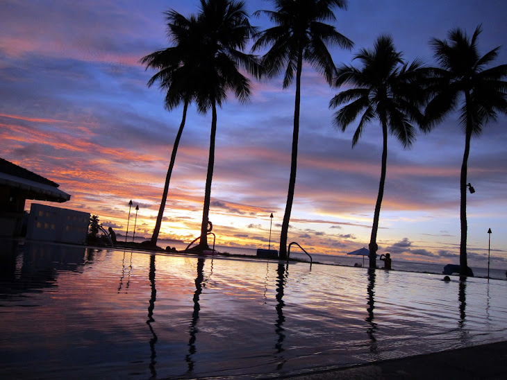 Sunset at Pacific Palau Resort