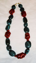 Turquoise with raw coral