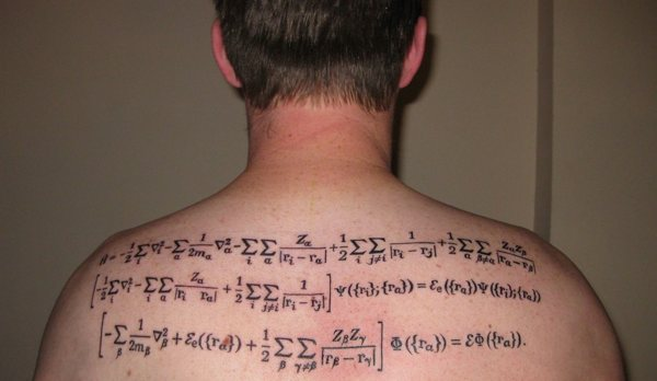interest in math and science, others cover their bodies in tattoos of