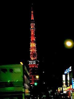 2011年の電飾に変わる前の東京タワーです。