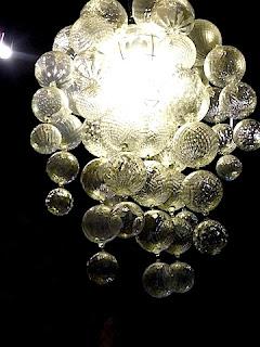 ダ・ドリアデ店内の照明。