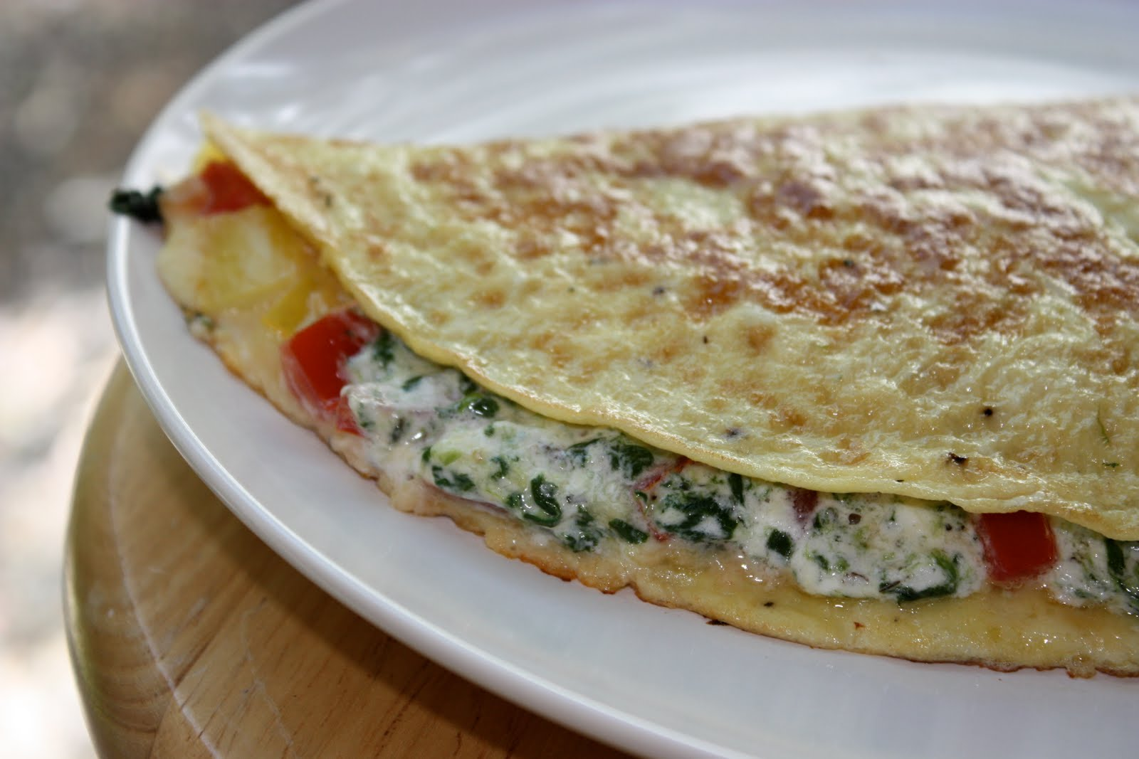 The Mothership's Galley: Herbed Goat Cheese & Vegetable Omelet