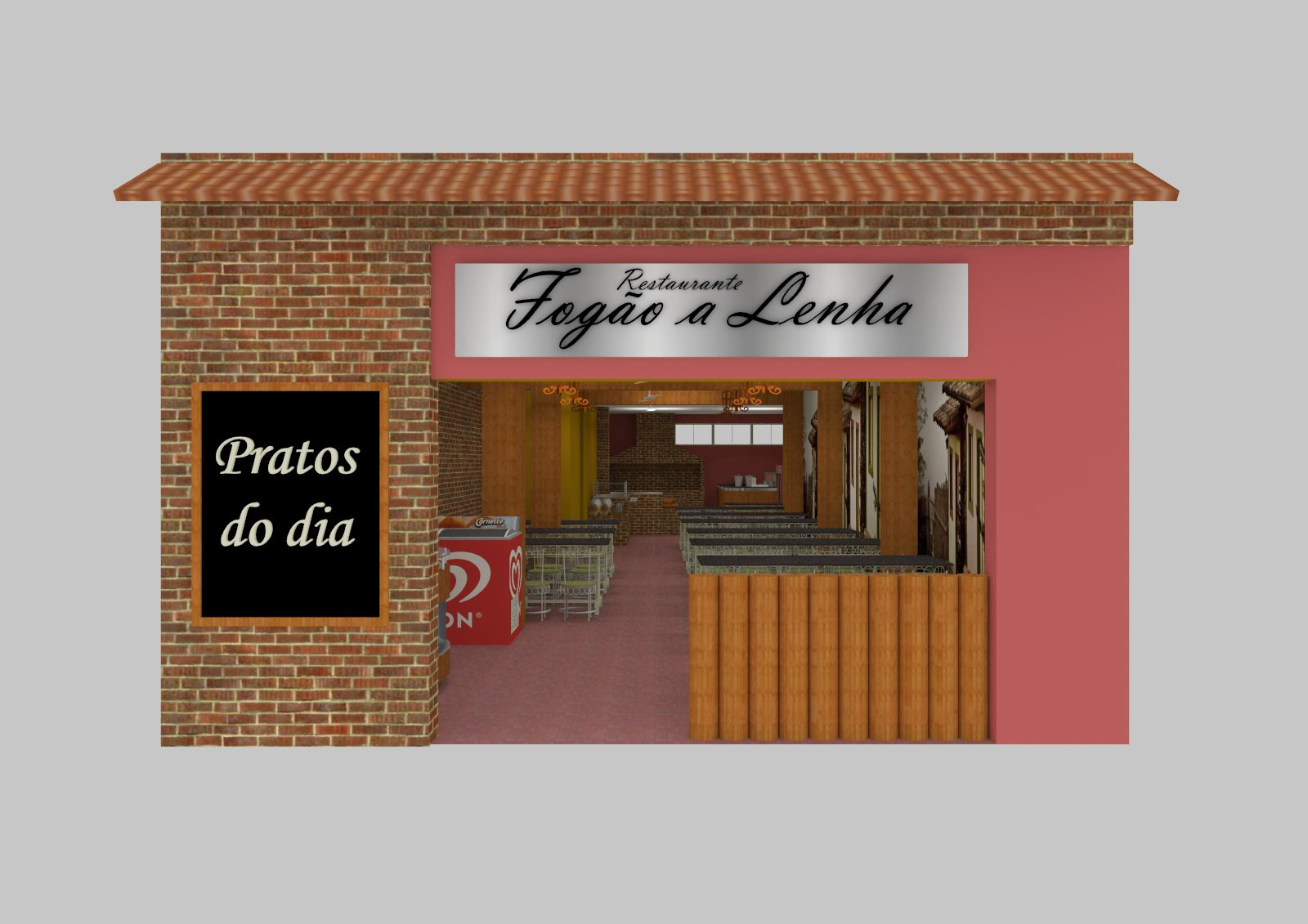 us Arquitetura: Restaurante Fogão a Lenha Inhapim MG. #955336 1600 1131