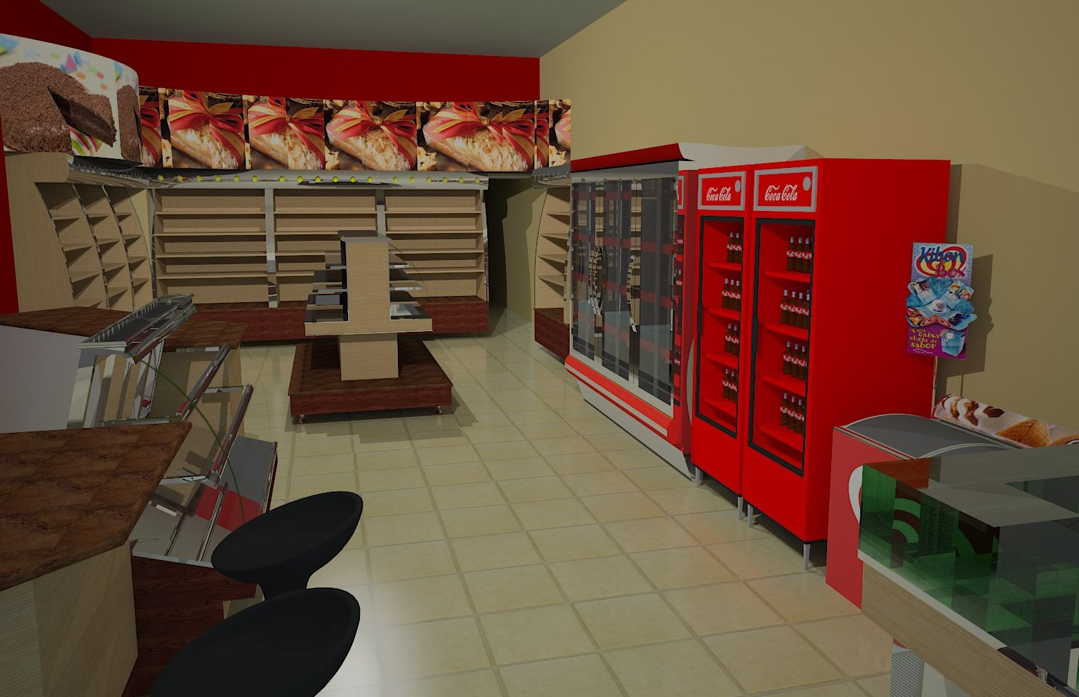 #B30A09 us Arquitetura: Padaria Teófilo Otoni 1559x1008 px Projetos Cozinhas Industriais #73 imagens