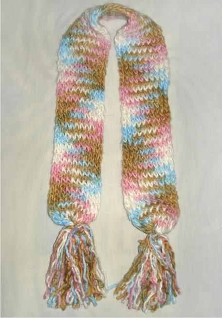 bufanda en colores pastel