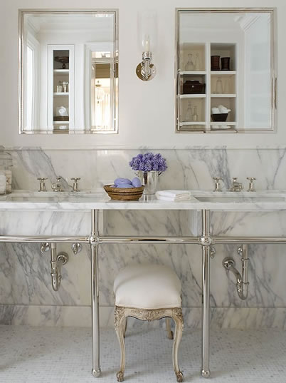 902 woodrow dreams of a marble bathroom and linen curtains for White carrera marble bathrooms
