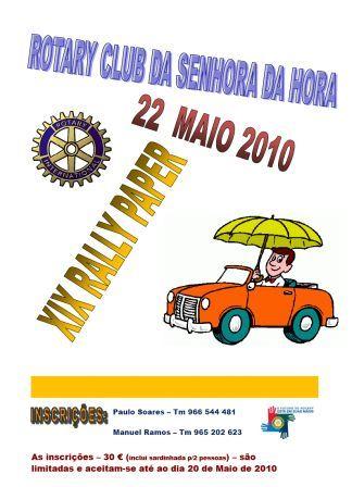 ROTARY CLUB SENHORA DA HORA - XX RALLY PAPER