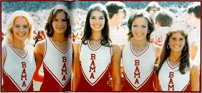 University of Alabama cheerleaders, 1976