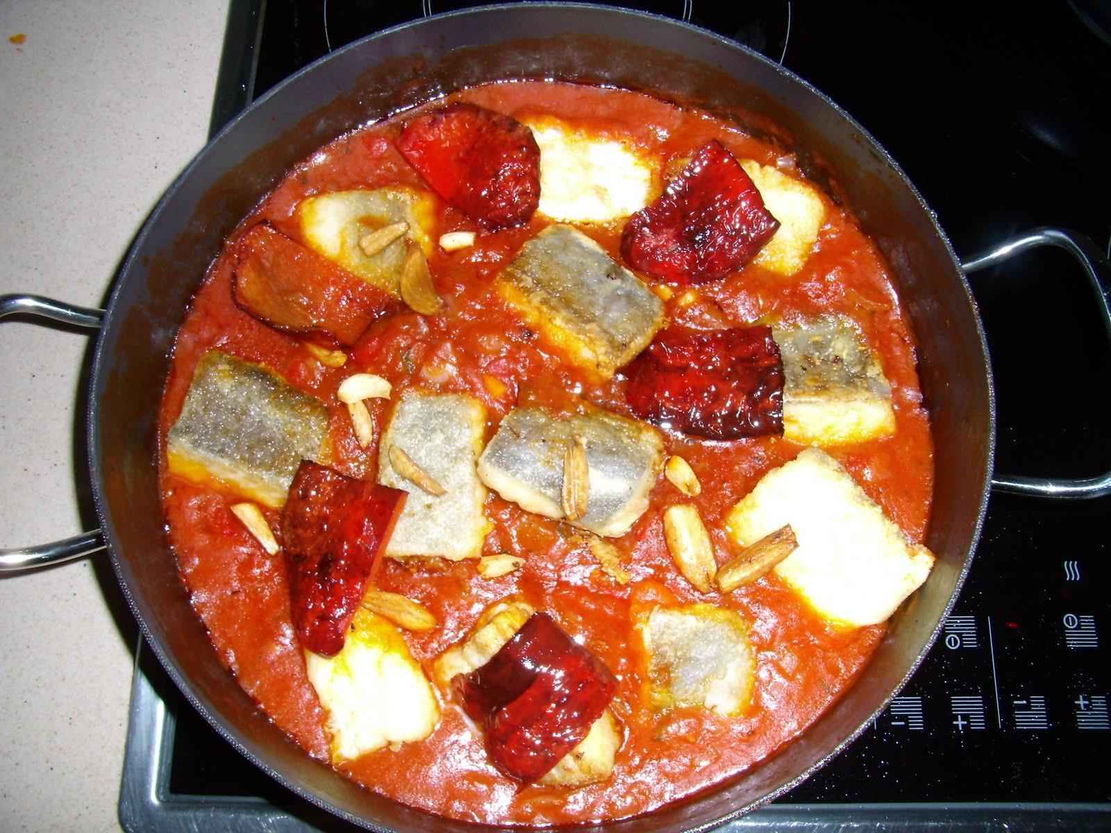 La almadraba de sol bacalao con tomate for Como cocinar lomos de bacalao