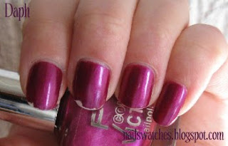 p2 stylish magenta frost shimmer nail polish nailswatches