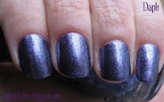 comparison nfu oh 068 p2 gorgeous! purple foil nail polish dupe nailswatches