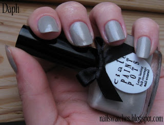 Ciaté Sharp Tailoring grey golden shimmer nail polish nailswatches