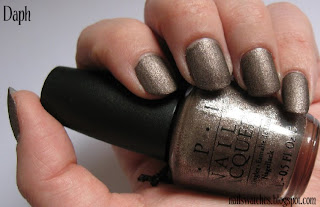 opi you don't know jacquer ydkj suede matte nail polish brown taupe gold cast nailswatches