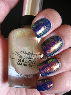 sally hansen hidden treasure flakies sephora by opi blue grotto jelly