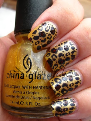 china glaze cowardly lyin' wizard of ooh ahz returns collection 2009 swatch nailswatches leopard manicure konadicure nailart stamping imageplate m57 cheetah
