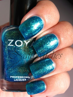 zoya charla blue dupe opi catch me in your net glass flecked sparkles collection 2010 nailswatches nailpolish nail polish swatch