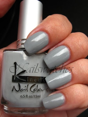 kinetics dark side grey creme nailswatches nails polish