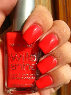 Wet n wild candy apple twist coral pink creme bright nailpolish nailswatches