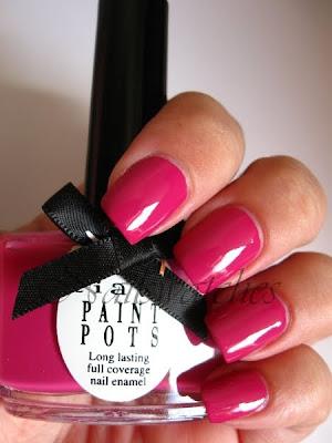 ciaté mainstage berry dark magenta pink creme nailpolish swatch nailswatches festival fever summer 2010 review