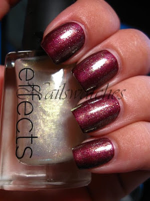 cnd effects polish topcoat shimmer gold jade topper nailswathces notd swatch