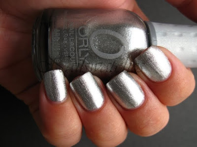 orly shine silver foil foil fx collection 2010 nail polish nailswatches