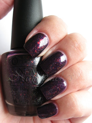 opi merry mignight purple flakie glitters holiday 2009 collection discontinued nailswatches