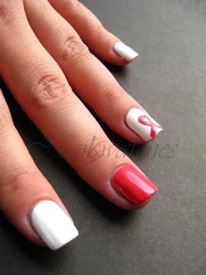 pink ribbon nails bca breast cancer awareness month october nail polish nailswatches nailart