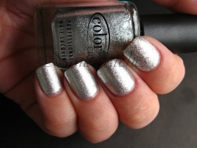 color club what a drag silver foil femme fatale collection 2009 nail polish nailswatches
