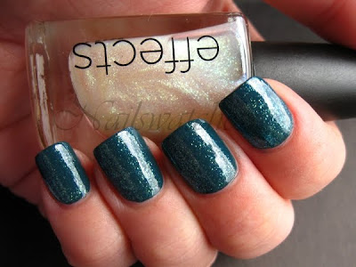 night factory the look cnd creative nail design fall winter 2010 urban oasis teal sparkle colour effect nail polish nailswatches