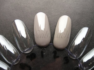 catrice absolutely chinchilly! comparison essie chinchilly khaki creme nail polish nails nailswatches catrice new collection 2010 preview