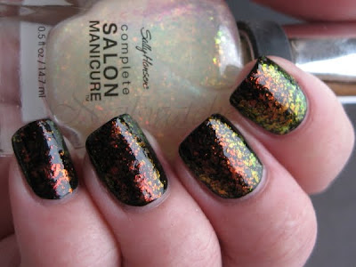 sally hansen hidden treasure flakie polish nailswatches