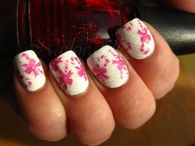 candycane christmas kerst xmas mani nail polish nailart imageplate m12 konad stamping nail polish nailswatches